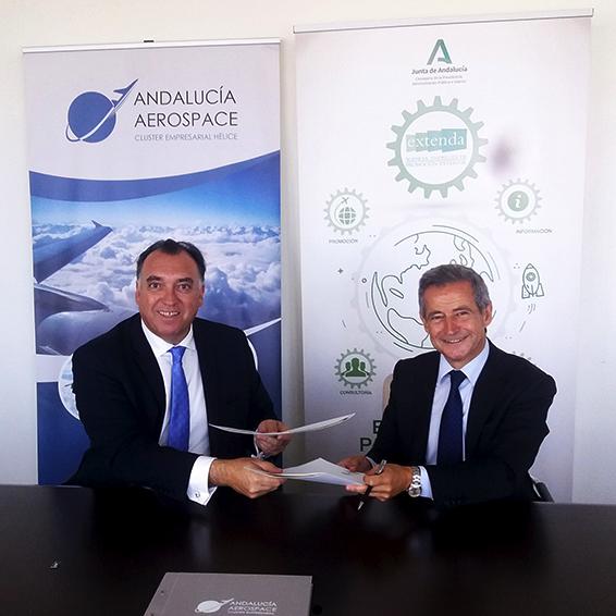 Extenda y Andalucía Aerospace firman un acuerdo de colaboración
